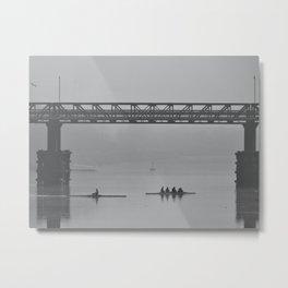 Morning Fog on the Tyne  Metal Print