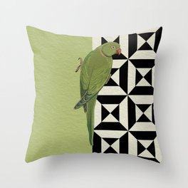 Parrot Checkers Throw Pillow