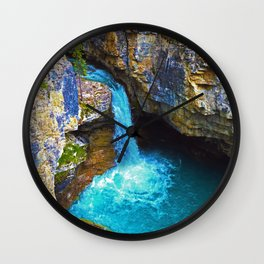 Stanley Waterfall & Beauty Creek, Jasper National Park Wall Clock