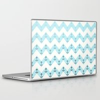 anchors Laptop & iPad Skins featuring Anchors by Mercedes Lopez