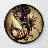 seahorse Wall Clocks featuring SEAHORSE by Tim Shumate