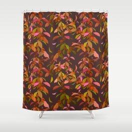 Beautyberry on Purple Shower Curtain