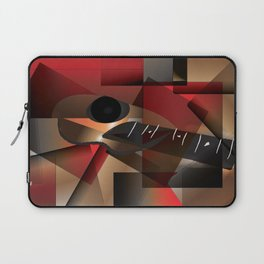 Man in red playing the guitar Laptop Sleeve