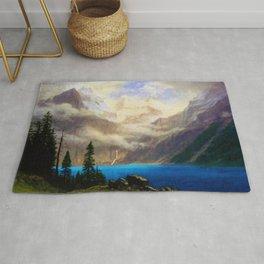 Mountain Scene by Albert Bierstadt Rug