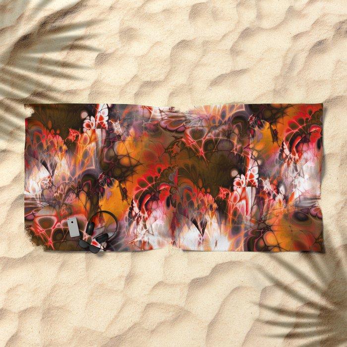 Marshmellow Skies (warm earth tones) Beach Towel