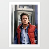 marty mcfly Art Prints featuring Marty McFly by Kaysiell