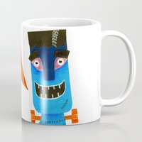 frankenstein Mugs featuring Frankenstein by gina shord