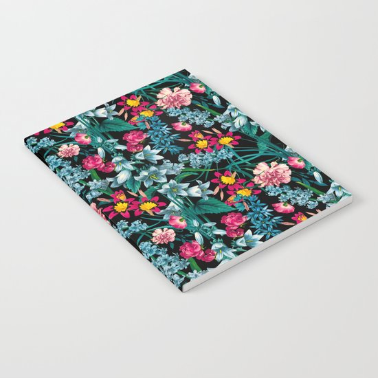 Botanic Floral Pattern Notebook