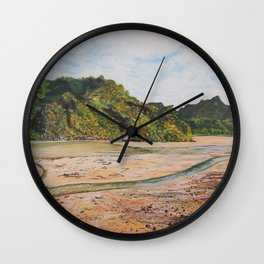 Low tide on Cat Ba Island, Vietnam Wall Clock