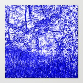 The Blue Forest Canvas Print