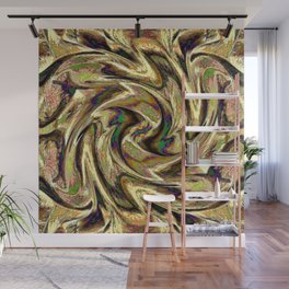 Gold Brown  Rotation Motaion Background Abstact Wall Mural