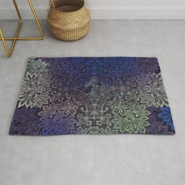 lace weave in deep blues Rug