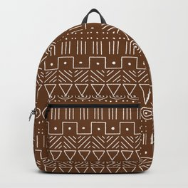Mudcloth Style 1 in Brown Backpack