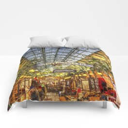 The Apple Market Covent Garden London Oil Comforters