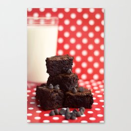 Brownies and Milk Canvas Print