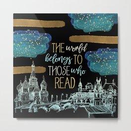 Stars Read the World Metal Print