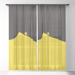Yellow Jersey I Tour de France Sheer Curtain