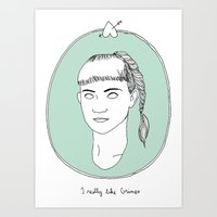 grimes Art Prints featuring Grimes by Anna Wanda Gogusey