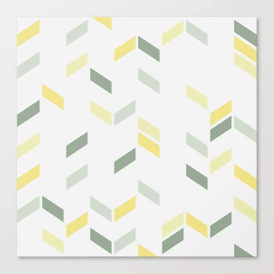 Geometric Confetti (Tropical Party) Canvas Print
