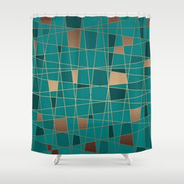 Abstract geometric pattern 11 Shower Curtain