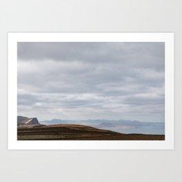 Lanzarote, vulcano and sea sight - Canary Island fine art travel & wanderlust photography print  Art Print