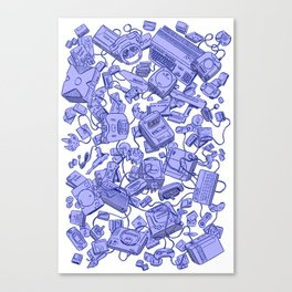 Retro Gamer - Blue Canvas Print