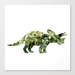 Triceratops Salvia Canvas Print