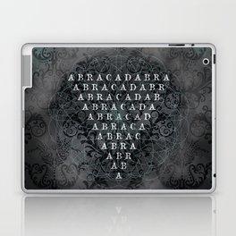 Abracadabra Reversed Pyramid in Charcoal Black Laptop & iPad Skin
