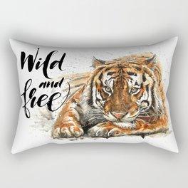 Tiger Wild and Free Rectangular Pillow