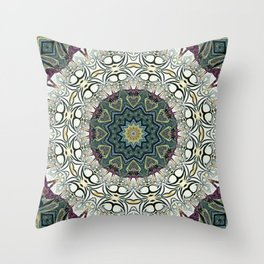 Dug Up Mandala 2 Throw Pillow