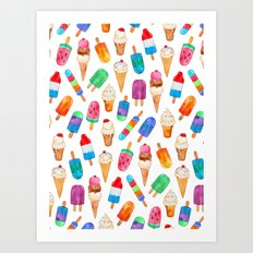Summer Pops and Ice Cream Dreams Art Print