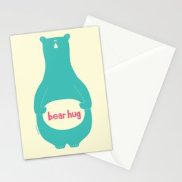 Bear Hug by zoolue Stationery Cards