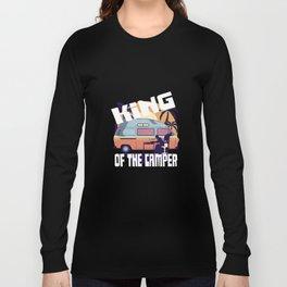 The Camping König Caravan Campsite Long Sleeve T-shirt