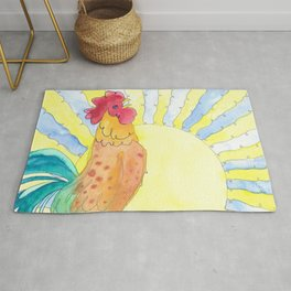 Rusty Rooster Rug