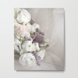 Soft Bouquet Of Flowers Metal Print