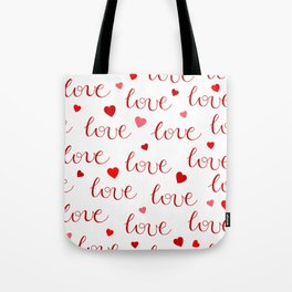 Valentine's Day LOVE Tote Bag