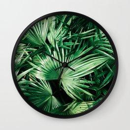 palm patterns Wall Clock