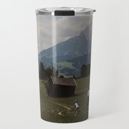 Biking through the Austrian Alps Travel Mug