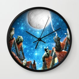 Feline Dreams Wall Clock