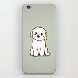 Shih Tzu and Maltese Mix Puppy Illustration iPhone Skin