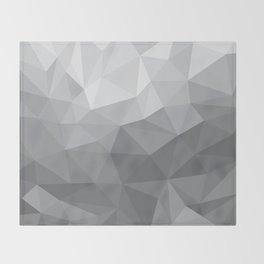Gray Polygon Background Throw Blanket