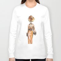 fashion illustration Long Sleeve T-shirts featuring Fashion Illustration by Svitlana M