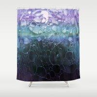 bubbles Shower Curtains featuring Bubbles by Lynn Bolt