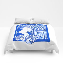 Lady Day (Billie Holiday block print) Comforters