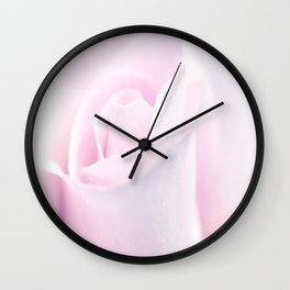 Delicate Pink Rose Bud Wall Clock