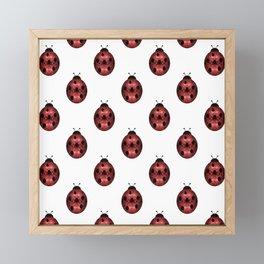 Sparkly red sparkles Ladybug pattern Framed Mini Art Print