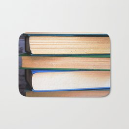 Stack of Books - Blues & Greens Bath Mat