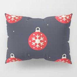Red Christmas Ornament Pattern Pillow Sham