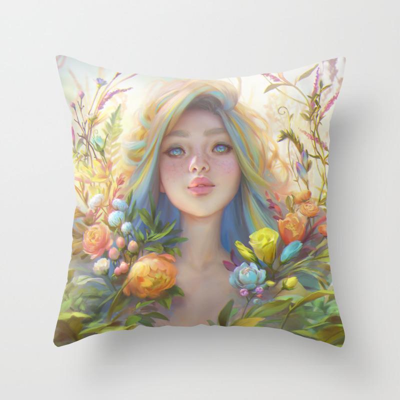 Clip Studio Paint Portrait Throw Pillow By Viccolatte Society6