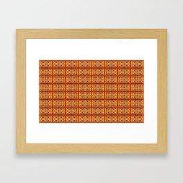Pattern by frames Framed Art Print